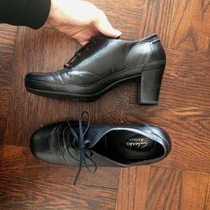 Great Condition Real Leather Heeled Booties